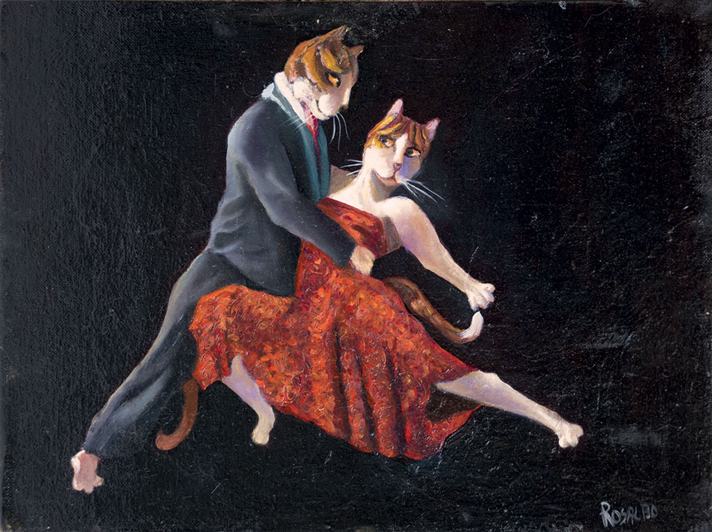 Cats waltzing
