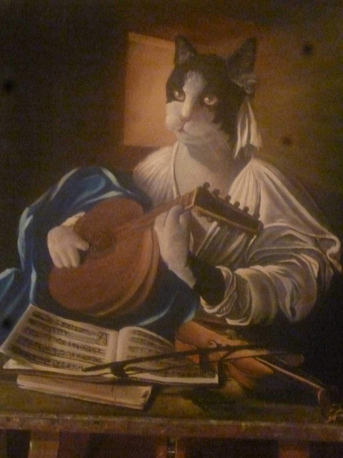 Cat with lute 2